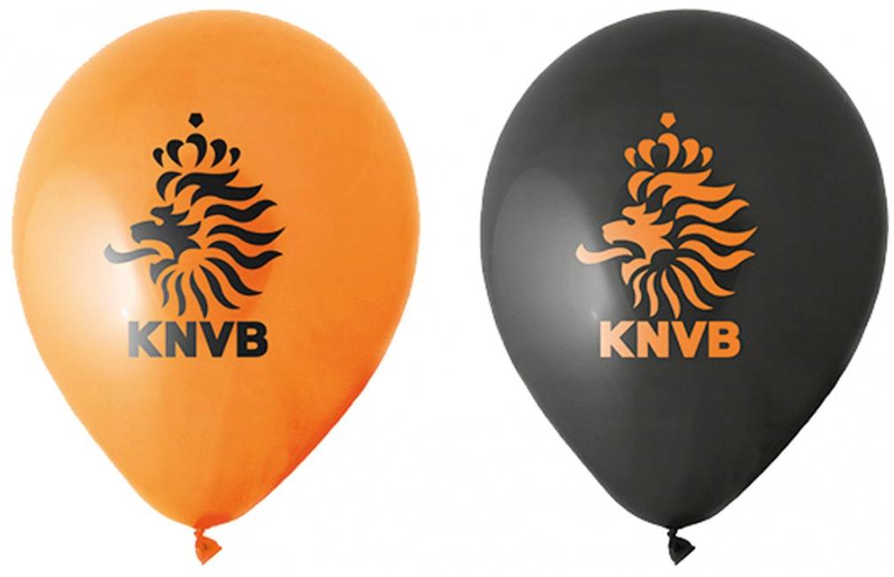 KNVB voetbal ballonnen 8 stuks