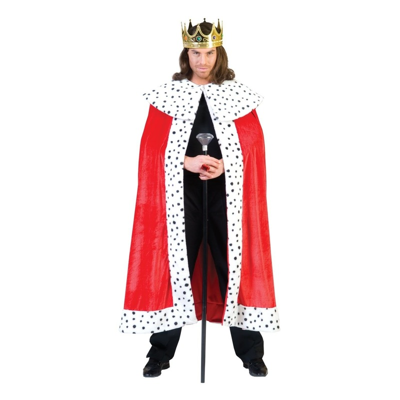 Koning kostuum rode mantel voor volwassenen
