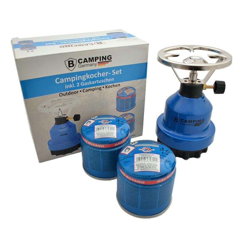 Kookstel- gasstel metaal inclusief 2 gaspatronen