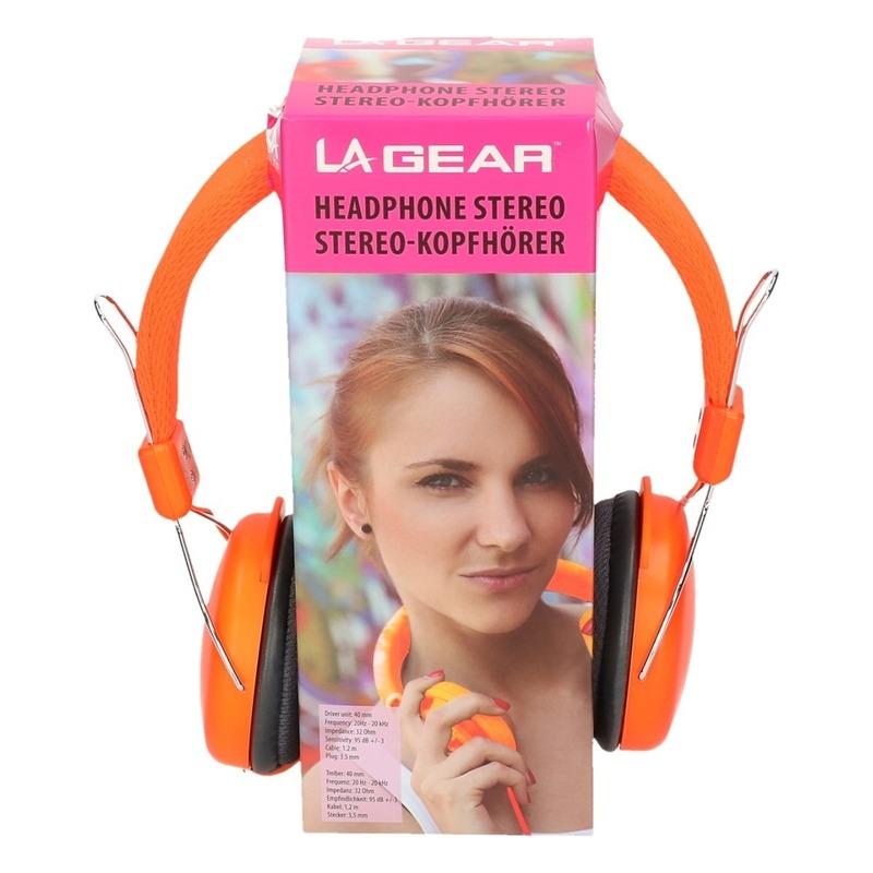 Koptelefoon stereo neon oranje