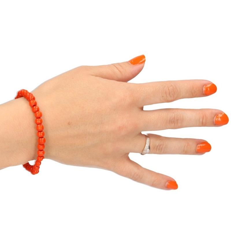 Kralen armband oranje