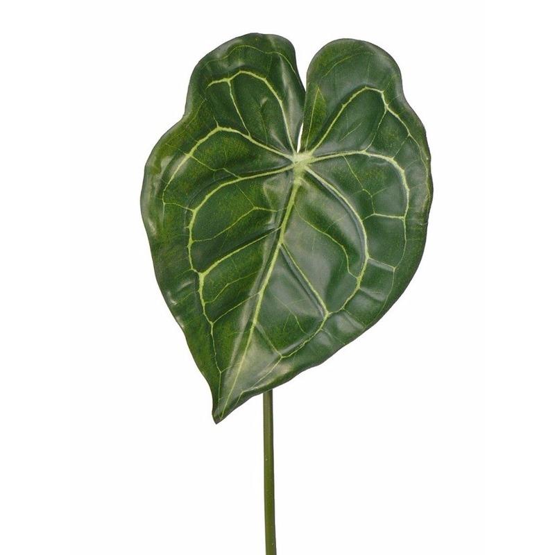 Kunst Anthurium bladgroen tak 67 cm