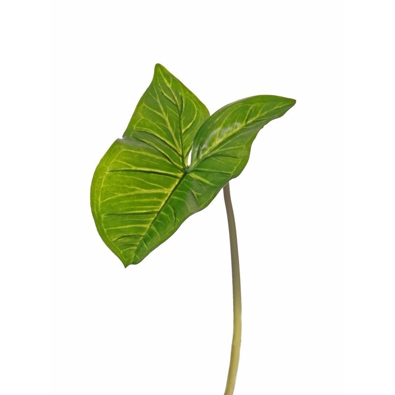 Kunst Aronskelkblad bladgroen tak 53 cm