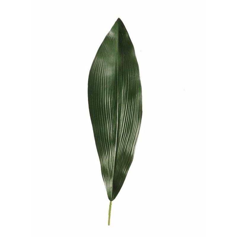 Kunst Aspidistra blad 75 cm donkergroen