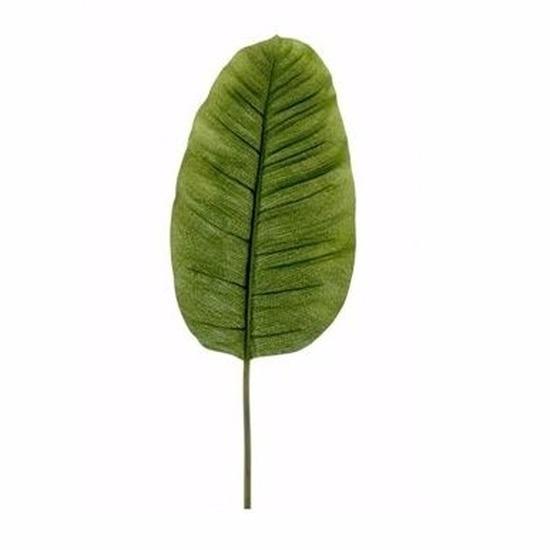 Kunst bananen blad 92 cm groen