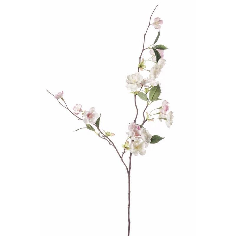 Kunst Perzik Bloesem tak 80 cm roze