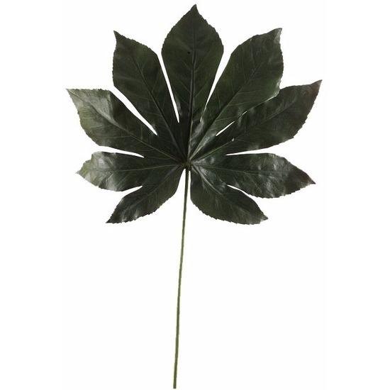 Kunst vingerplant blad 55 cm donkergroen