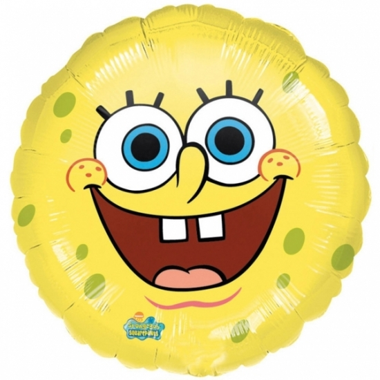 Lachende Spongebob folie ballon helium 43cm