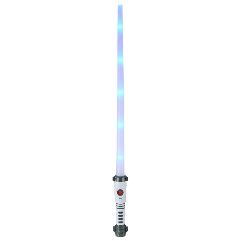 LED ruimte licht zwaard met geluid wit handvat 70 cm