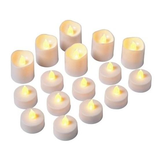 LED theelichtjes/waxinelichtjes 16 stuks flakkerend