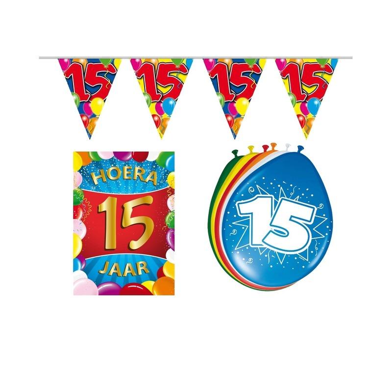 Leeftijd feestartikelen 15 jaar voordeel pakket