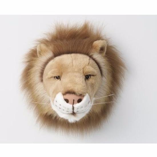 Leeuwen kop voor aan de muur