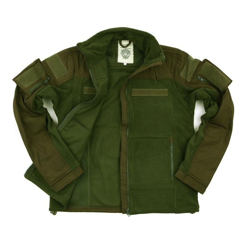 Legergroen combat/outdoor vest fleece