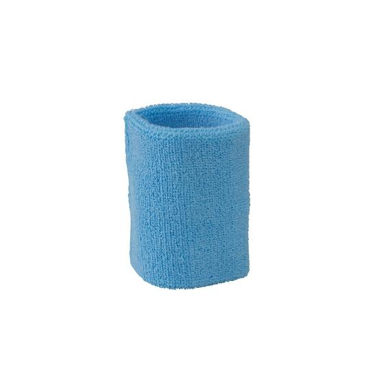 Lichtblauw zweetbandje voor pols