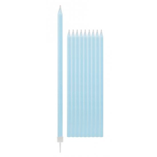 Lichtblauwe kaarsen 15,5 cm