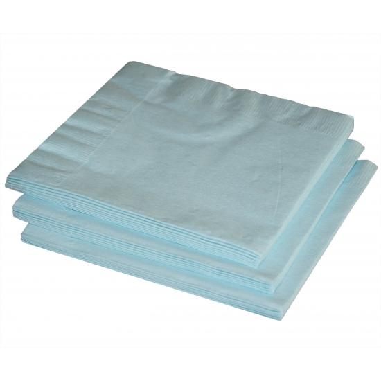 Lichtblauwe servetten 33 x 33 cm