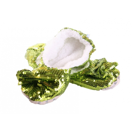Lichtgroene bling pantoffels voor dames