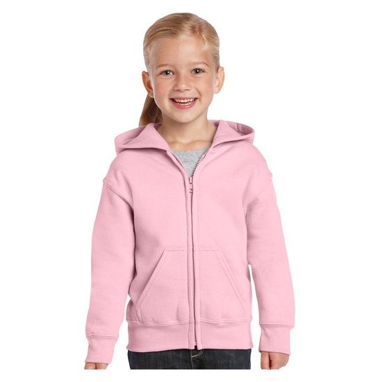Lichtroze capuchon vest voor meisjes