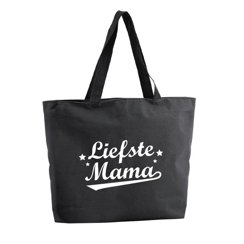 Liefste Mama shopper cadeau tas zwart 47 cm