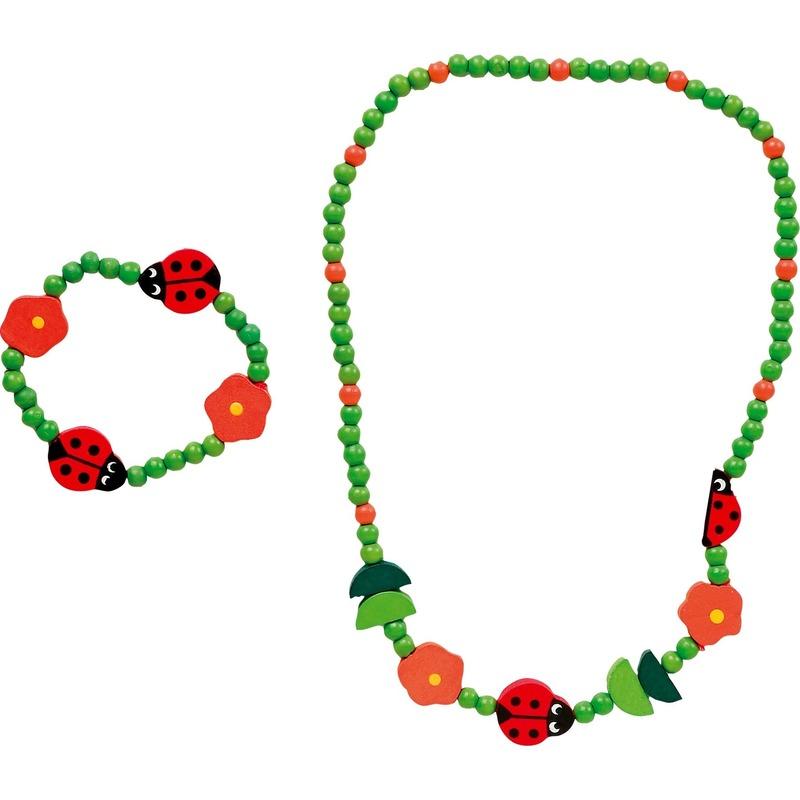 Lieveheersbeestje sieraden set voor kinderen