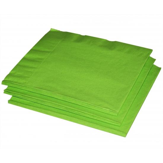 Limegroene servetten 33 x 33 cm
