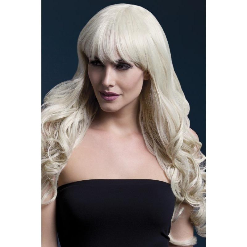 Luxe blonde lange pruik Isabelle voor dames