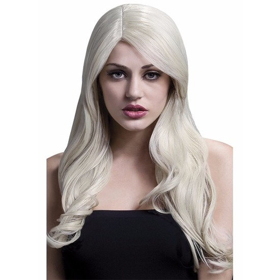 Luxe blonde pruik lang