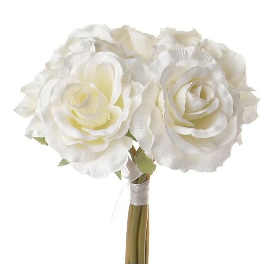 Luxe boeket cremekleurige rozen