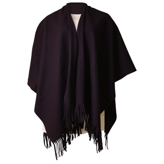 Luxe dames omslag poncho zwart