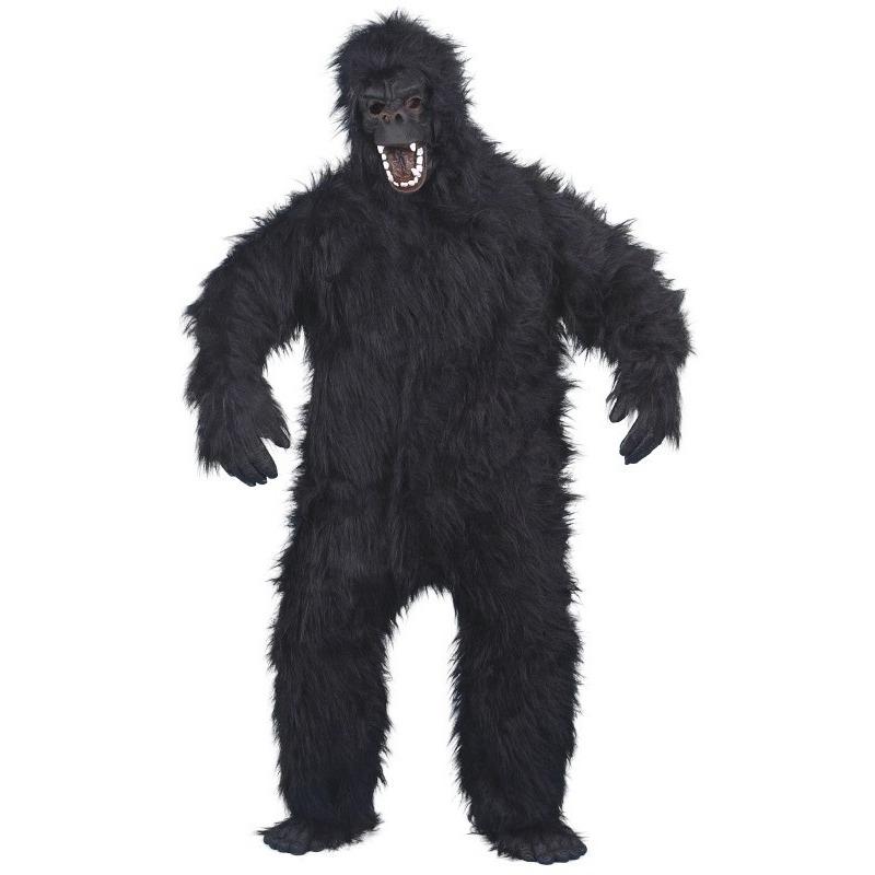 Luxe gorilla pak/kostuum voor volwassenen