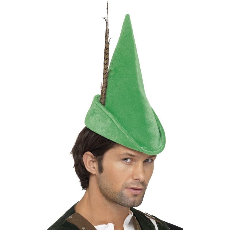 Luxe groene Robin Hood hoed voor volwassenen