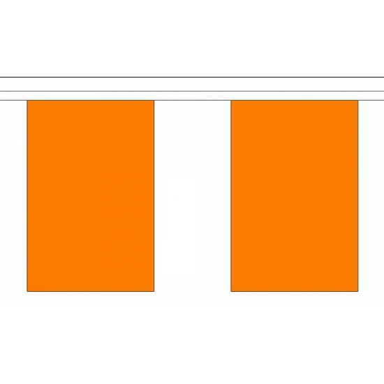 Luxe oranje vlaggenlijn 9 meter