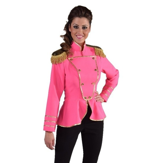 Luxe roze Toppers jas voor dames
