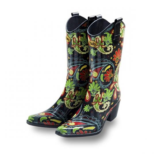 Luxe rubberen laarzen Paisley