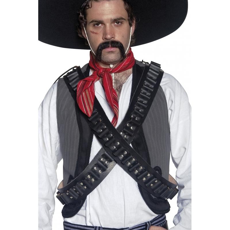 Luxe western cowboy of Mexicaan verkleed kogelriem