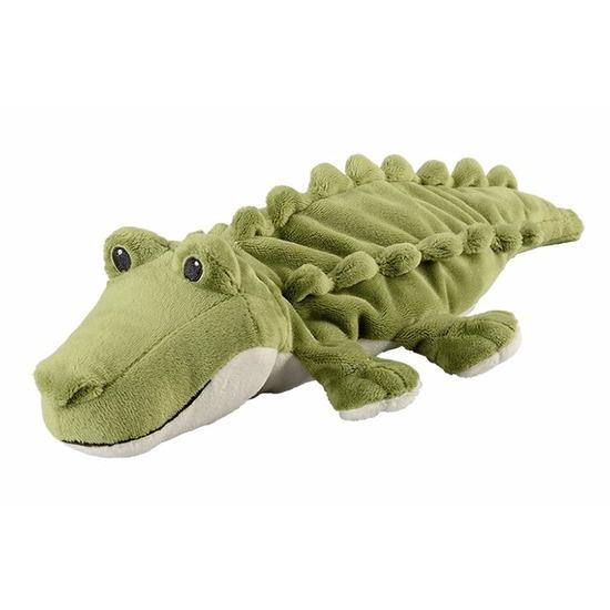 Magnetron warmte knuffel krokodil groen 35 cm