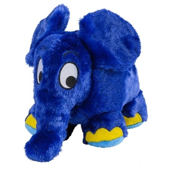 Magnetron warmte knuffel olifant blauw 29 cm