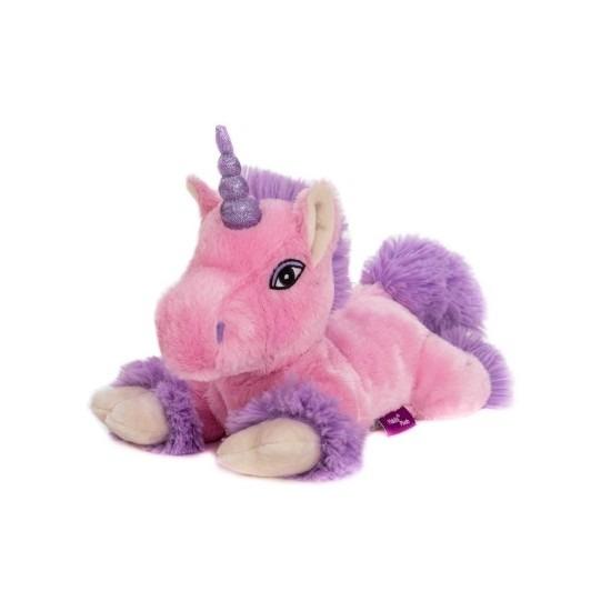 Magnetron warmte knuffel roze eenhoorn paard 18 cm
