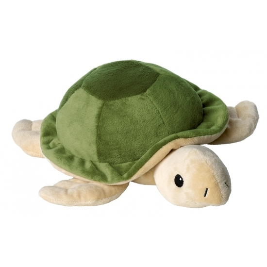 Magnetron warmte knuffel schildpad groen 30 cm