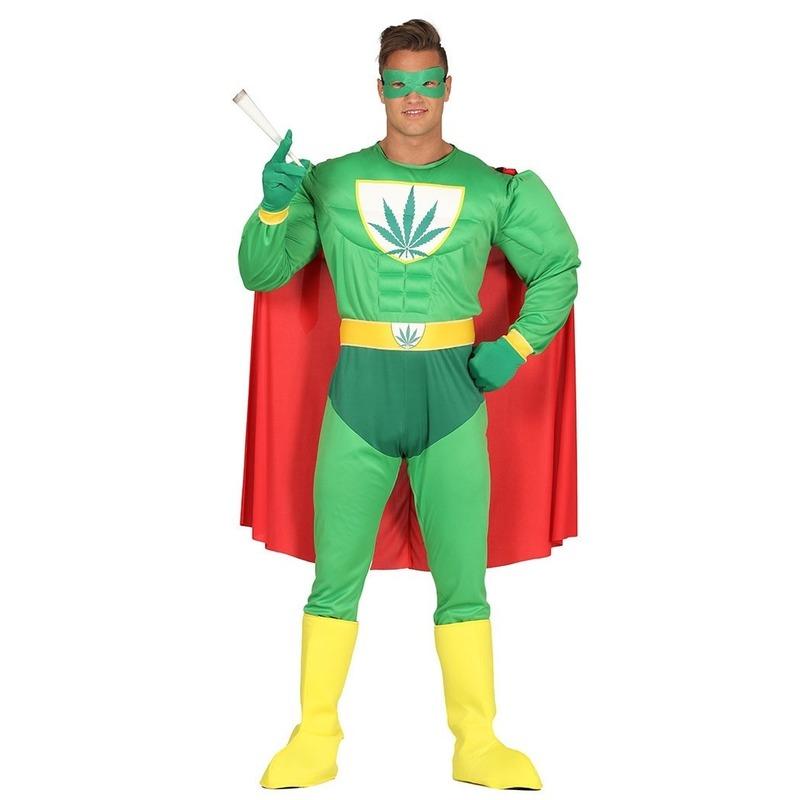 Marihuana man superheld verkleed kostuum voor heren