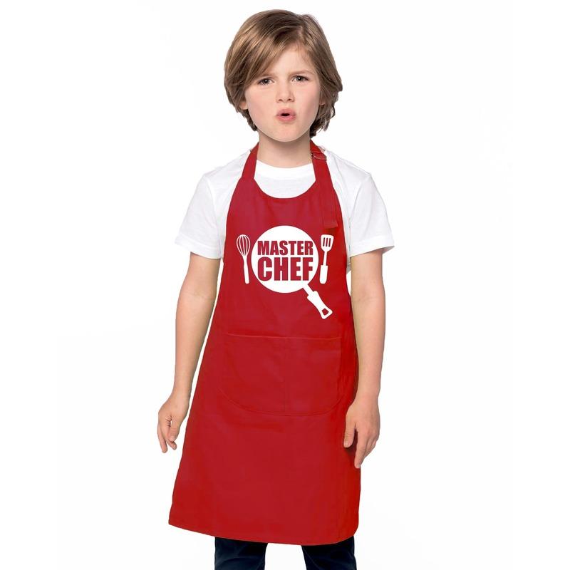 Master chef keukenschort rood kinderen