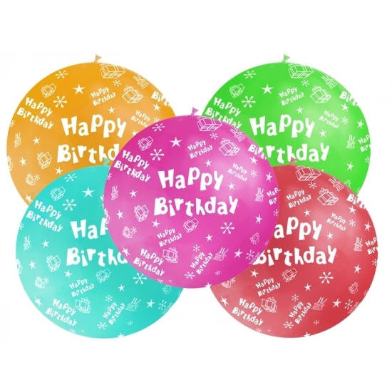 Mega ballon Happy Birthday