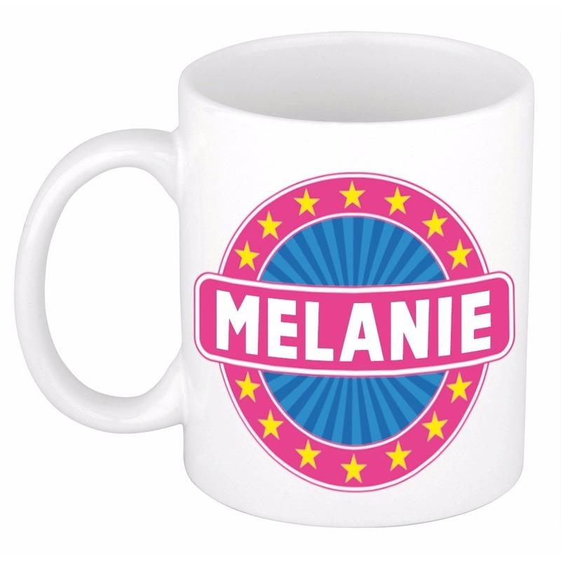 Melanie naam koffie mok / beker 300 ml