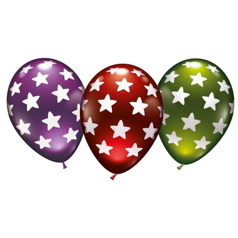 Metallic ballonnen met sterren