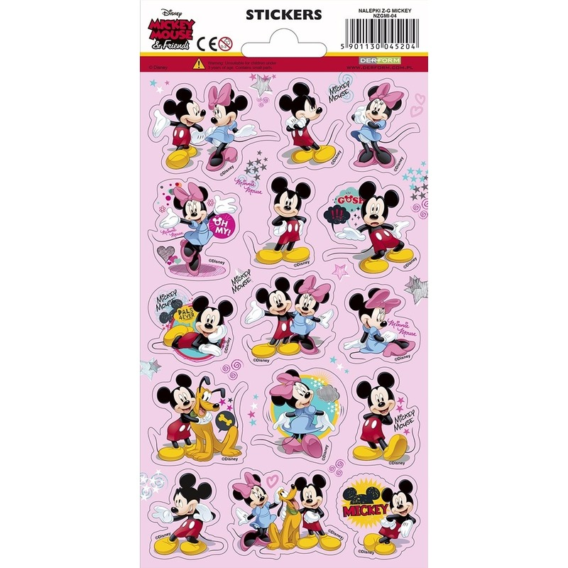 Mickey and friends stickervel 15 stickers