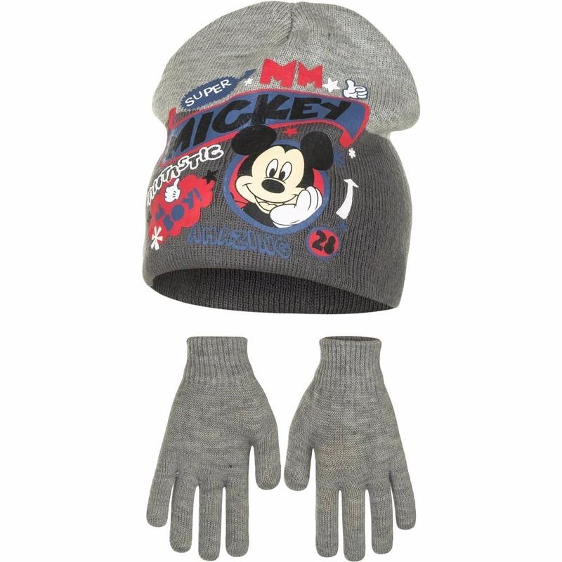 Mickey Mouse winterset grijs 2 delig voor jongens