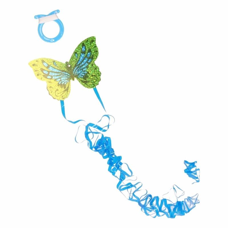 Mini groene vlinder vlieger 10 x 7 cm