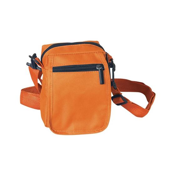 Mini schoudertasje oranje 15 cm