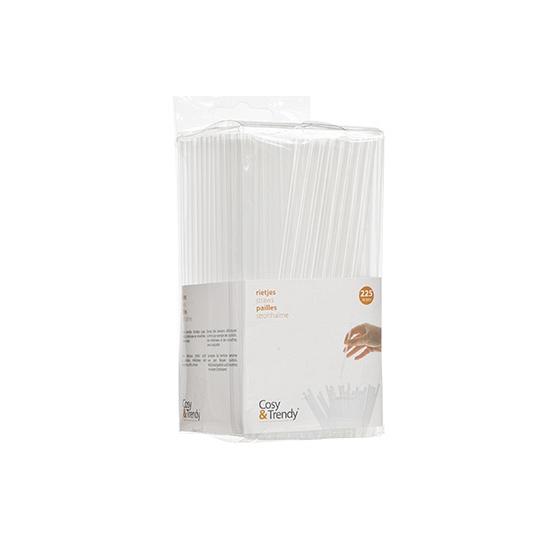 Mini transparante rietjes 14 cm