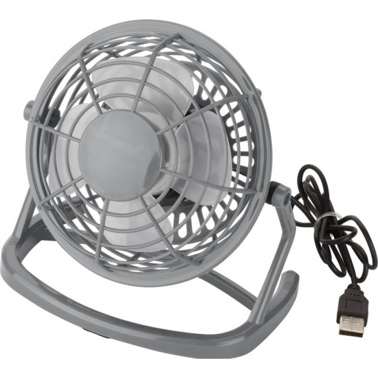 Mini ventilator USB grijs